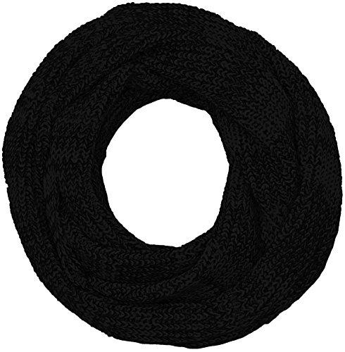 JACK & JONES Herren JACRIB Knit Tube NOOS Schal, Schwarz (Black), One size