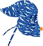 SimpliKids UPF 50+ UV Ray Sun Protection Baby Hat w/Neck Flap,Shark,0-12 Months