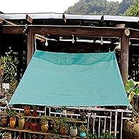 MAHFEI シェーディングネット、 オーニング シェード遮光ネッ パーゴラシェードカバー パティオキャノピー グロメット付きHDPE透過性布 90%の日焼け止めとUV耐性 パティオ、芝生、庭の装飾用 (Color : Green, Size : 1.1x2.5m)
