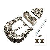TOME Western Cowboy Buckle 38MM Antique Silver Belt Buckle Set 1.1/2' Wide