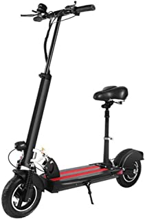 XUHUIXZI Worth Having Electric Scooter for Adults,Long-Range Battery 500w Motor,with Adjustable and Removeable Seat,Easy F...