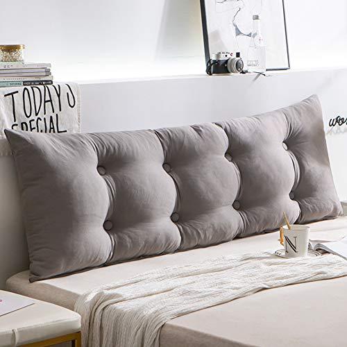 HAOLY Rückenlehnenkeil,kopfteil Bett Kissen,großes Dreieckiges Kissen,kopfteil Für Betten,Sofa Rückenpolster-g 200x15x50cm(79x6x20inch)