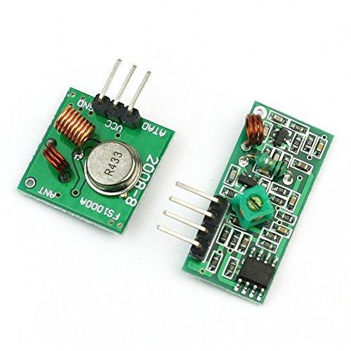 Aihasd 433mhz Sender Und Receiver Superregeneration Wireless Transmitter Modul für Arduino Raspberry pi