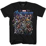 Marvel Avengers Assemble Logo Endgame Adult T-Shirt(Black,XXL)