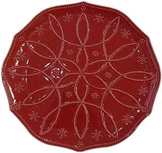 Food Network Fontinella Snowflake Serving Platter, Large, Red