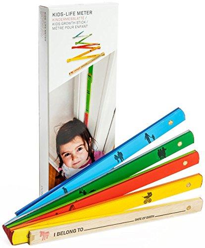 Donkey Products - Kids-Life Meter | Bunte Kinder-Messlatte aus Holz | Tolles Geschenk für Kinder und werdende Eltern