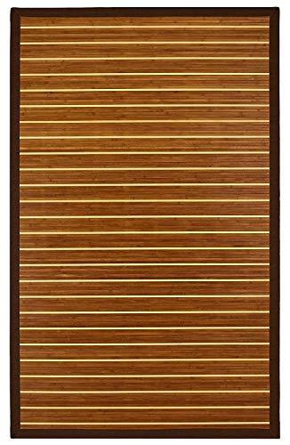Anji Mountain Premier Bamboo Area Rug, 4 x 6-Feet, Brown