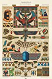L'ornement Polychrome: Blank Writing Journal (6 x 9 Softcover 100 pages College Rule) featuring Egyptian pattern from L'ornement Polychrome by Albert Racinet