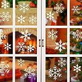 ASANMU Pegatina Copo de Nieve de la Navidad, Decoración Navidad Navidad Pegatina para Ventanas, Pegatinas de Papel de Copo de Nieve Calcomanías de Ventana PVC sin Adhesivo para Navidad Decoración Casa