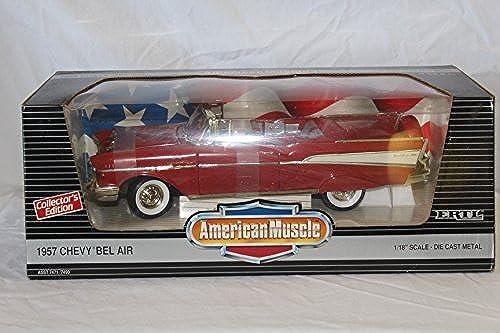 Ertl American Muscle Matador rot 1957 Chevy Bel Air ConGrünible Die Cast Model 1 18 Scale