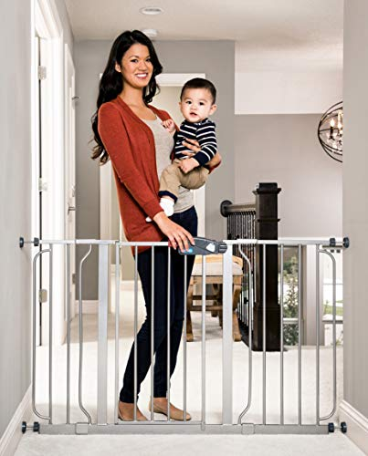 Regalo Easy Step 49-Inch Extra Wide Baby Gate, Includes 4-Inch and 12-Inch Extension Kit, 4 Pack of Pressure Mount Kit, and 4 Pack of Wall Mount Kit
