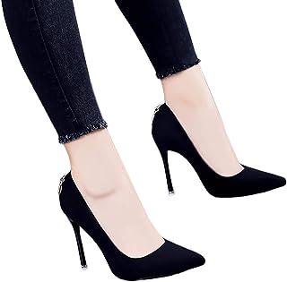 Sandalen zwart hoge hakken meest populaire elegante puntige hoge hak Stiletto mode ondiepe mond damesschoenen