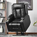 BTM Power Lift Chair Electric Riser Recliner for Elderly Leather Sofa Recliner Armchair