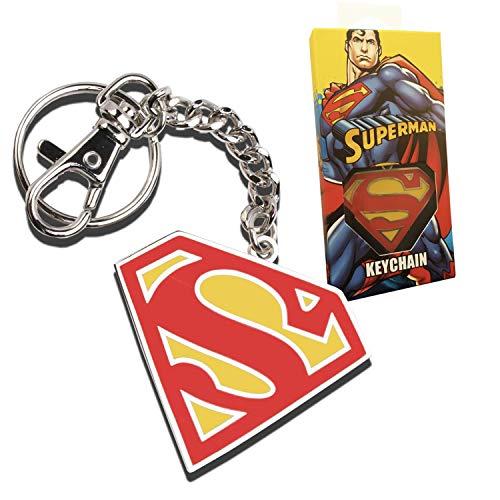 The Noble Collection Superman 5cm Color Logo Llavero