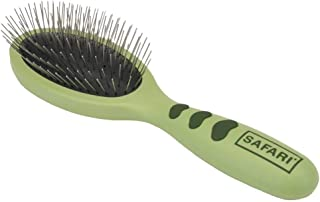 Safari by Coastal Wire Pin Brush with Ergonomic Plastic Handle for All Dog Breeds & All Coat Types