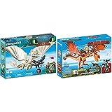 PLAYMOBIL DreamWorks Dragons Furia Diurna y Beb Dragn con Nios, a Partir de 4 Aos (70038) + DreamWorks Dragons Garfios y Patn Mocoso, A Partir de 4 aos (9459)