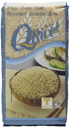 Q RICE Jasminreis, braun – Duftender Natur Langkorn Reis – Thai Hom Mali - 2 x 1 kg