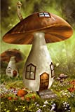 N\A Jigsaw Puzzle, Adult Puzzles Mushroom House,Fairy Forest Intellectual Puzzle Toys for Family 500Piece