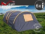 Dancover Campingzelt, TentZing Tunnel, 6 Personen, orange/dunkelgrau