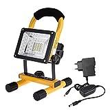 LM 30W LED projecteur de chantier Projecteur LED avec support, lampe d'atelier,...