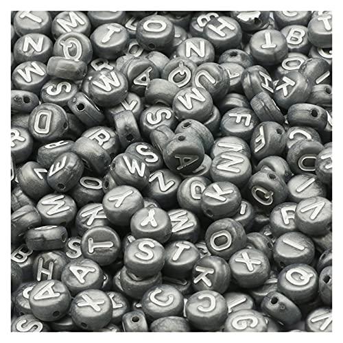 KXLBHJXB Kit De Fabricación De Collar, Letras Mixtas En Blanco Y Negro, Cuentas Espaciadoras Redondas Planas para Collar De Pulsera DIY Hecho A Mano De 7 Mm (Color : B06583, Item Diameter : 400Pcs)