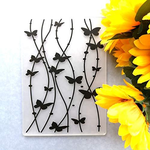 GAWEI Schmetterlings-Prägeschablonen für Kartenherstellung und Bastelarbeiten, Scrapbooking, Bastelvorlage, Formherstellung, Fotoalbum, Dekoration