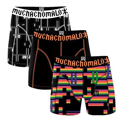 Muchachomalo Herren Boxershort 3er Pack Gaming Größe M-XL Print NEU, Größe:XL