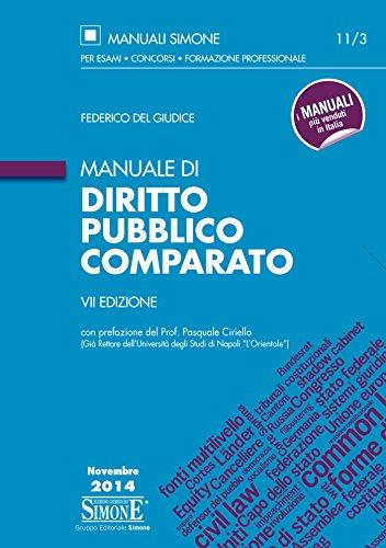 Manuale di Diritto Pubblico Comparato: con prefazione del Prof. Pasquale Ciriello (Già Rettore dell'Università degli Studi di Napoli 'L'Orientale')