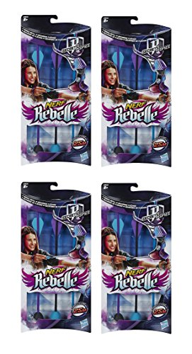 Flechas de repuesto para arco Nerf Rebelle, 4 paquetes de 3 unidades (12 en total)