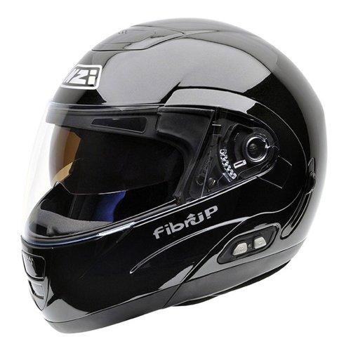NZI Fibrup PH Casco de Moto, Negro, 57 (M)