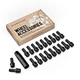 20pcs Locking Spline Black 12x1.5 Lug Bolt, with Socket Key (26mm OEM Shank Length) Cone Seat for many BMWs: 128i 135i 318i 320i 325i 328i 335i M3 525i 528i 530i 535i M5 Z3 Z4 E36 E46 E60 E90 E92 E93