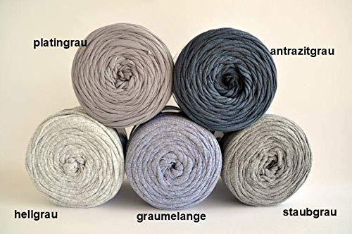 Textilgarn Baumwollegarn Stoffgarn Graumelange 650g, 120m für Taschen, Körbe, Utensilo, Teppiche