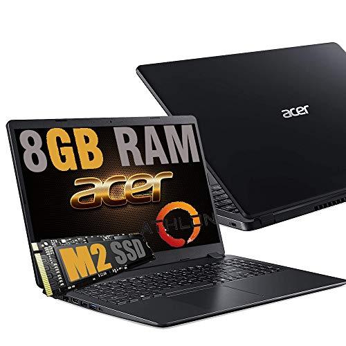 Notebook Acer Portatile Pc Display 15.6  HD  AMD Athlon Dual Core 3020e Up To 2.60Ghz  Ram DDR4 8Gb  SSD M.2 256GB  Vga Radeon R3  Hdmi Wifi Bluetooth Rj-45  Windows 10 Pro
