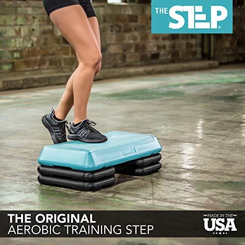 The Step Original Circuit Size Aerobic Platform with Grey Nonslip Platform and Four Original Black Risers