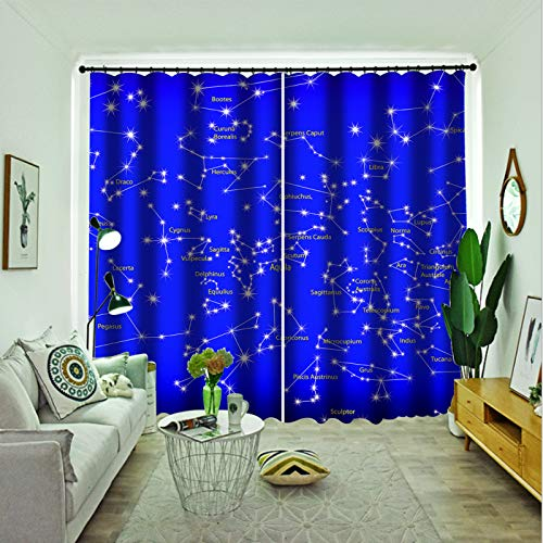 Oukeep Superfine Fiber Thickened Super Blackout Curtains Suitable For Blackout Curtains For Shopping Malls, Bedrooms, Living Rooms And Balconies Can Be Washed In 2 Pieces