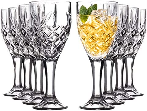 Royalty Art Vintage Highball Goblet Glassware Set 8 Tumbler Glasses Decorative Chalice Kinsley product image