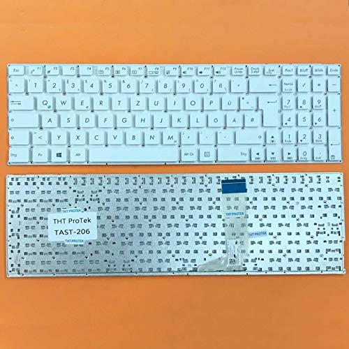 kompatibel für ASUS X756, X756U DEUTSCHE - Weiß Tastatur Keyboard ohne Rahmen