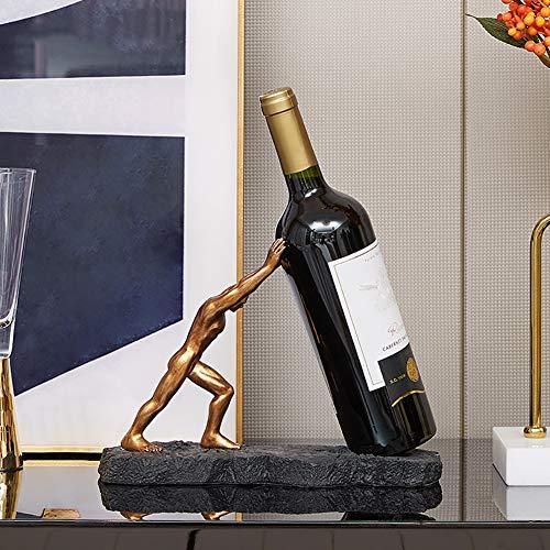 TY&WJ Dekoration Statuen Geschenk Zu Bar Küche Hochzeit Tabelle Dekoration,Griechisch Mythologie Hercules Wein-Rack Hand-gemalt Harz Skulpturen,Kreativ Wein-flaschenhalter A 27x19x11cm(11x7x4inch)