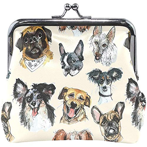 Dogsofshillington-tablet dames portemonnee met muntvak