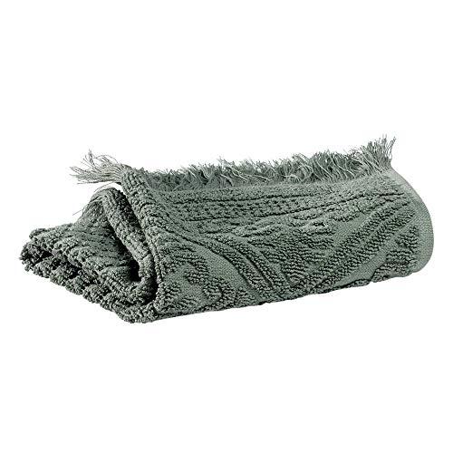 Vivaraise – Toalla de invitados Zoé – 30 x 50 cm – Pequeña desatascador para manos y cuerpo – Tejido de rizo de algodón absorbente – Diseño jacquard elegante, acabado flecos