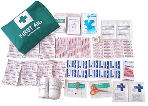 Erste-Hilfe-Trauma-Kit Sicherheitstasche 94 Stück für die Reise Auto nach Hause Zelten Arbeiten Überleben CE genehmigt