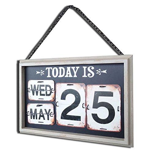 レトロなデザインのアンティークな日めくりカレンダー。フレームデイリーカレンダー no-06