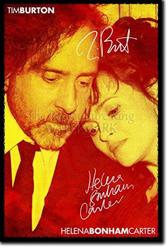 Tim Burton und Helena Bonham Carter Kunstdruck (mit signierter Autogramm Nachbildung) Hochglanz Poster - Größe: 12 x 8 Inches (30x20cm)