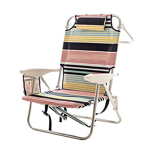 YJchairs Tabouret Pliant Chaise Pliante Multifonction Ergonomique Portable Bande Confortable Motif Siesta pour Maison Jardin Pêche Comping Randonnée Bureau Balcon
