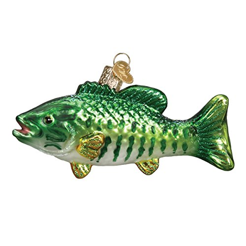 Old World Christmas Fish Collection Glass Blown Ornaments for Christmas Tree Smallmouth Bass