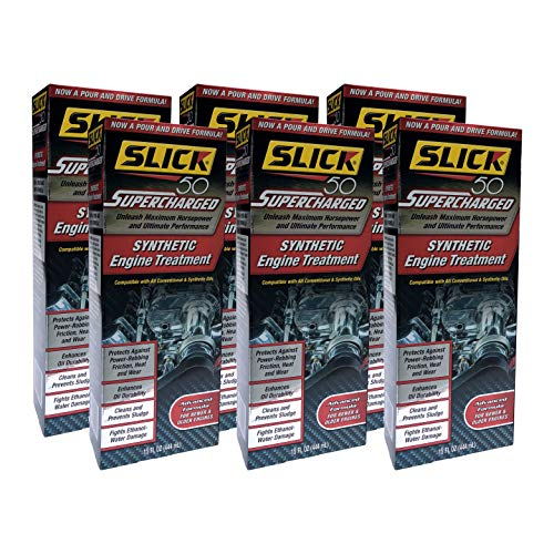 Slick 50 SL-750001-06 Supercharged Full Synthetic Engine Treatment, 15 fl. oz, 6 Pack