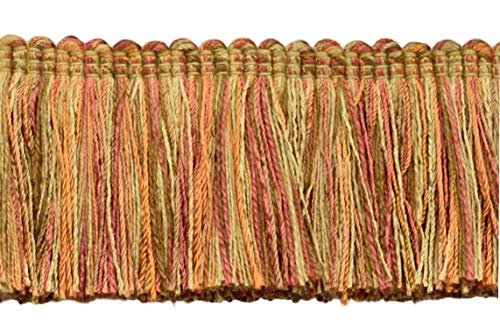 DÉCOPRO Veranda Collection 5cm Brush Fringe Trim|Copper, Brown, Oak Brown|Style#: 0200VB|Color: Rustic - VNT9 |Sold by The Yard - 91cm / 3 Ft / 36\