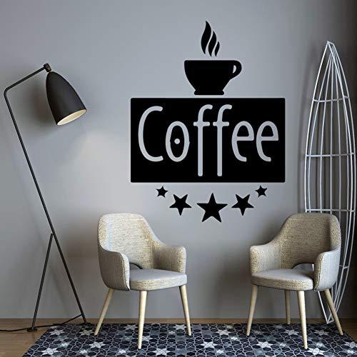 ZSYNB Muursticker Grappige Koffie Familie Muurstickers muurstickers muurschildering Art Decor vinyl Stickers Art Decoratie DIY Home Decor Stickers muurschilderingen