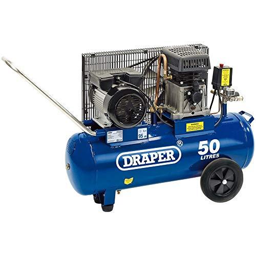Draper 31253 Belt-Driven Air Compressor, 50L, 230V, 2.2KW, 3HP