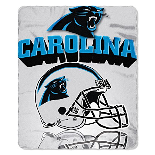 NFL Carolina Panthers Gridiron Fleece Throw, 50-inches x 60-inches